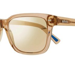 Revo RE 1104 TAYLOR Polarized Solglasögon från Revo i färgen Transparent Caramel Brown.