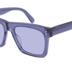 Stella McCartney SC0172S Solglasögon från Stella Mccartney i färgen Transparent Purple.