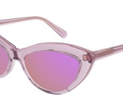 Stella McCartney SC0187S Solglasögon från Stella Mccartney i färgen Transparent Purple.